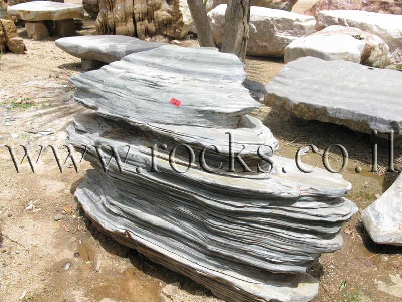 סלע מקופלת ירוקה
