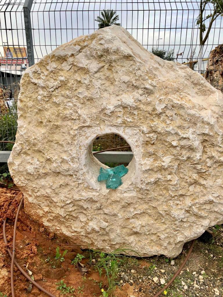 פי באר עתיק דקורציה לגינה אבן טחינה