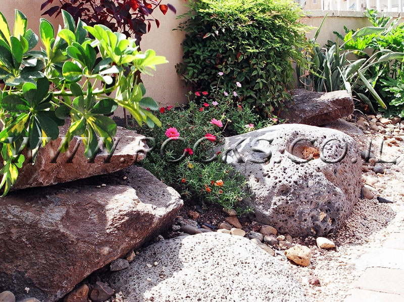 סלע בזלת עגול